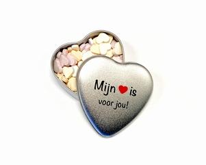 Snoepblikje 'Mijn hart' | valentijnsdag cadeau