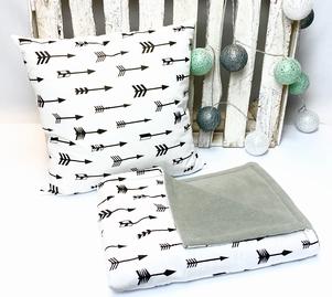 Babykamer aankleding set | grijsgroen/wit/zwart