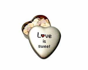 Snoepblikje 'Love is sweet'| Valentijn cadeau