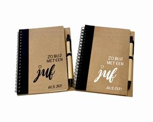 "Juf bedankje | notitieboek ""zo blij"""