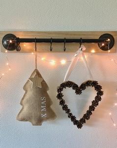Jute kerstboom 'xmas' met ster