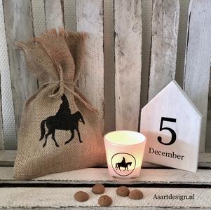 Sinterklaas decoratie / Jute Sinterklaas zakje 'SINT'