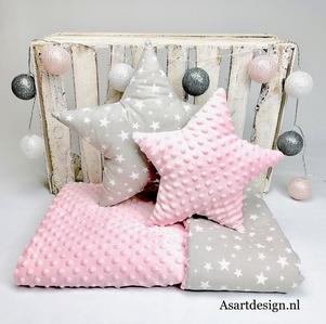 Babykamer aankleding set | roze/grijs