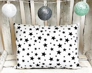 Kussen sterren wit/zwart