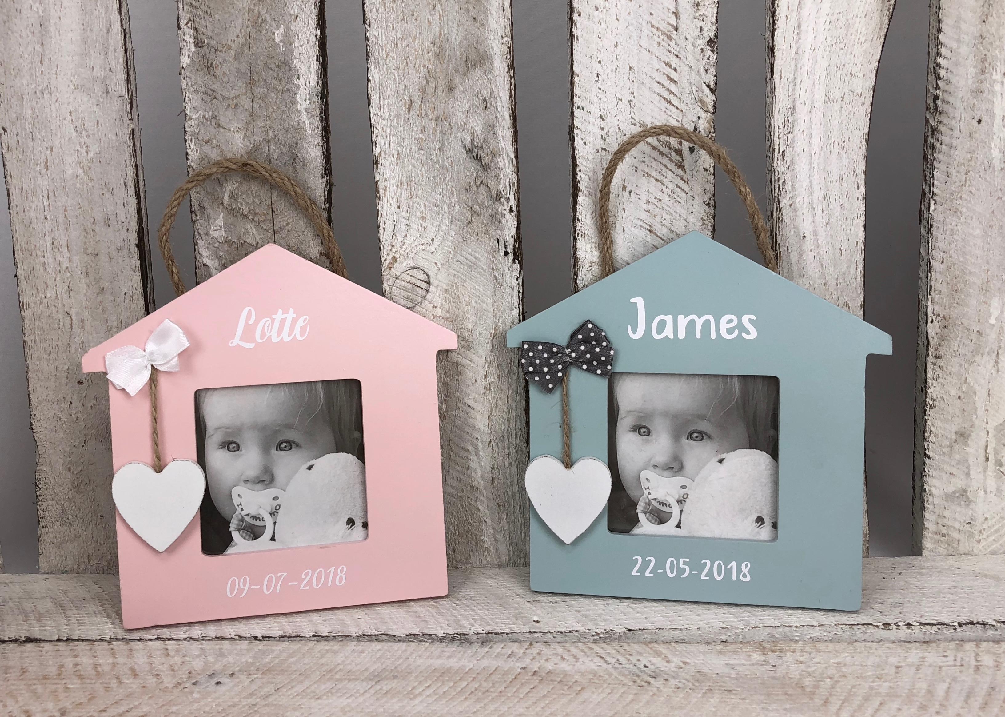 Geboorte fotolijst huisje