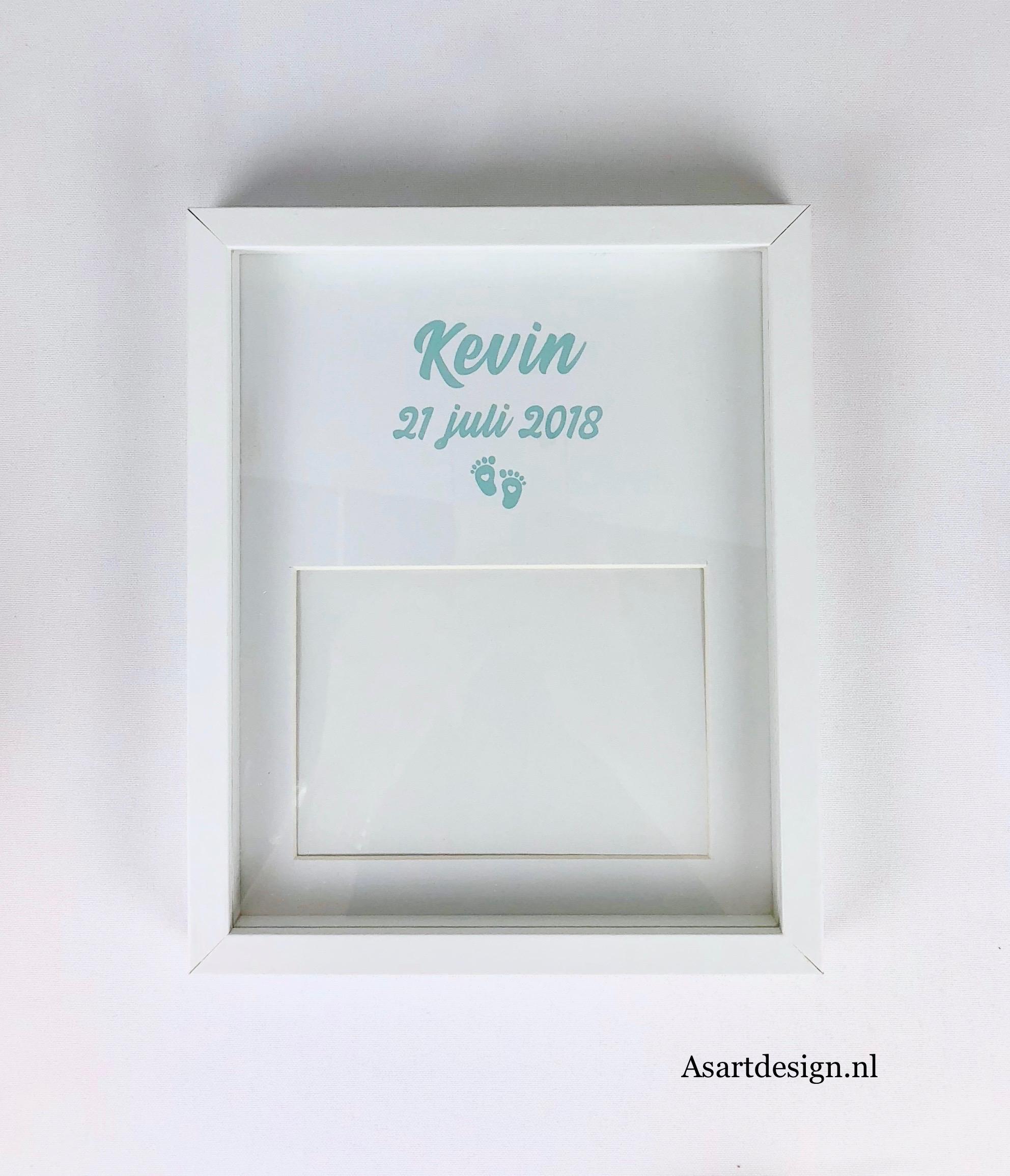 Geboorte fotolijst met naam en geboortedatum