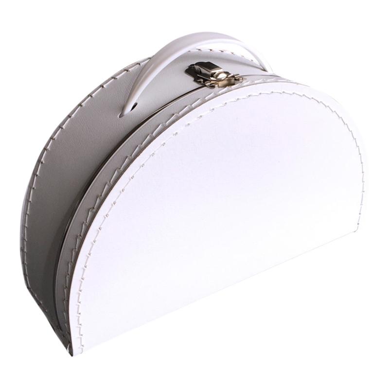 Halfrond koffertje wit