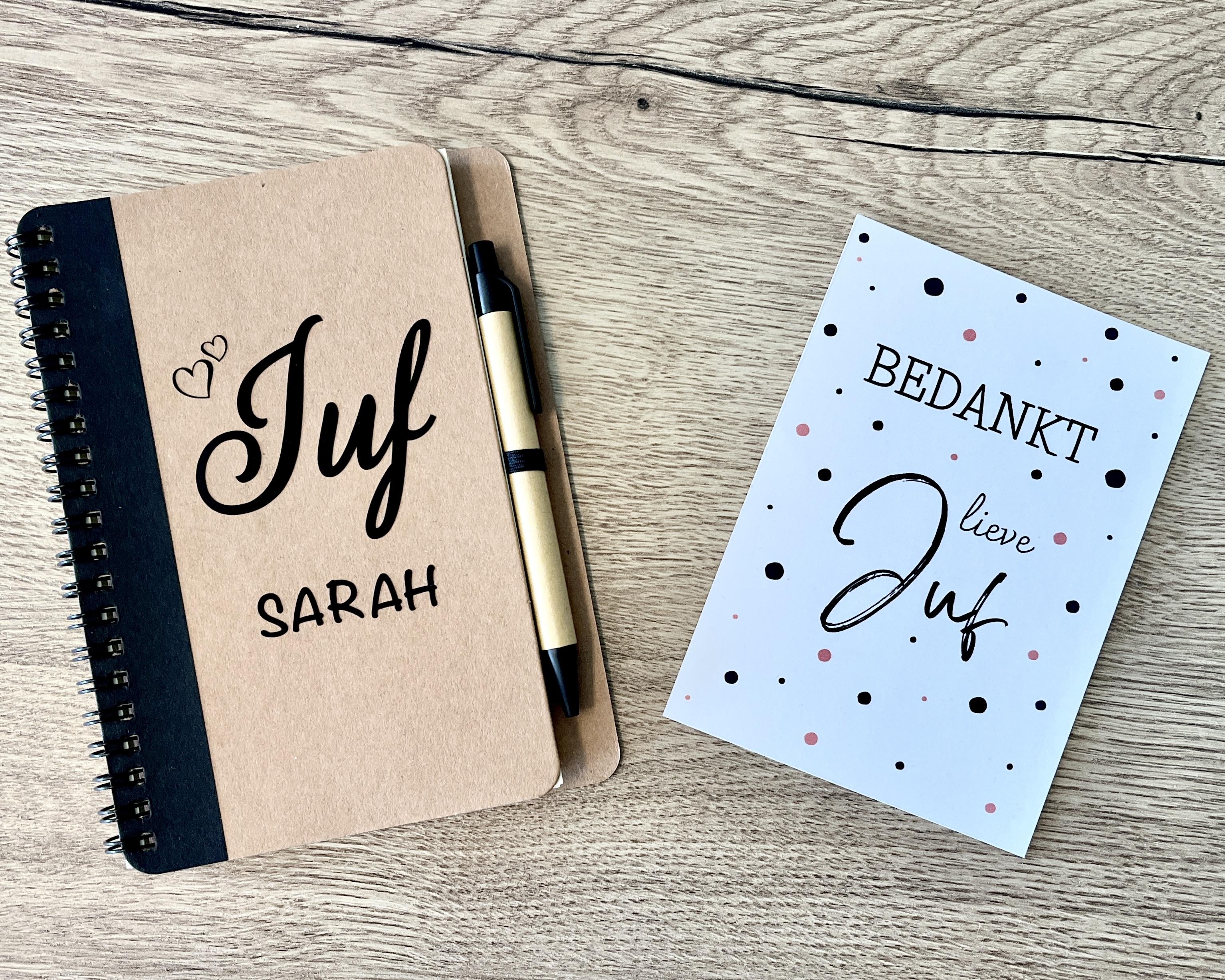 """Juf cadeau """"Gepersonaliseerd notitieboek"""""""