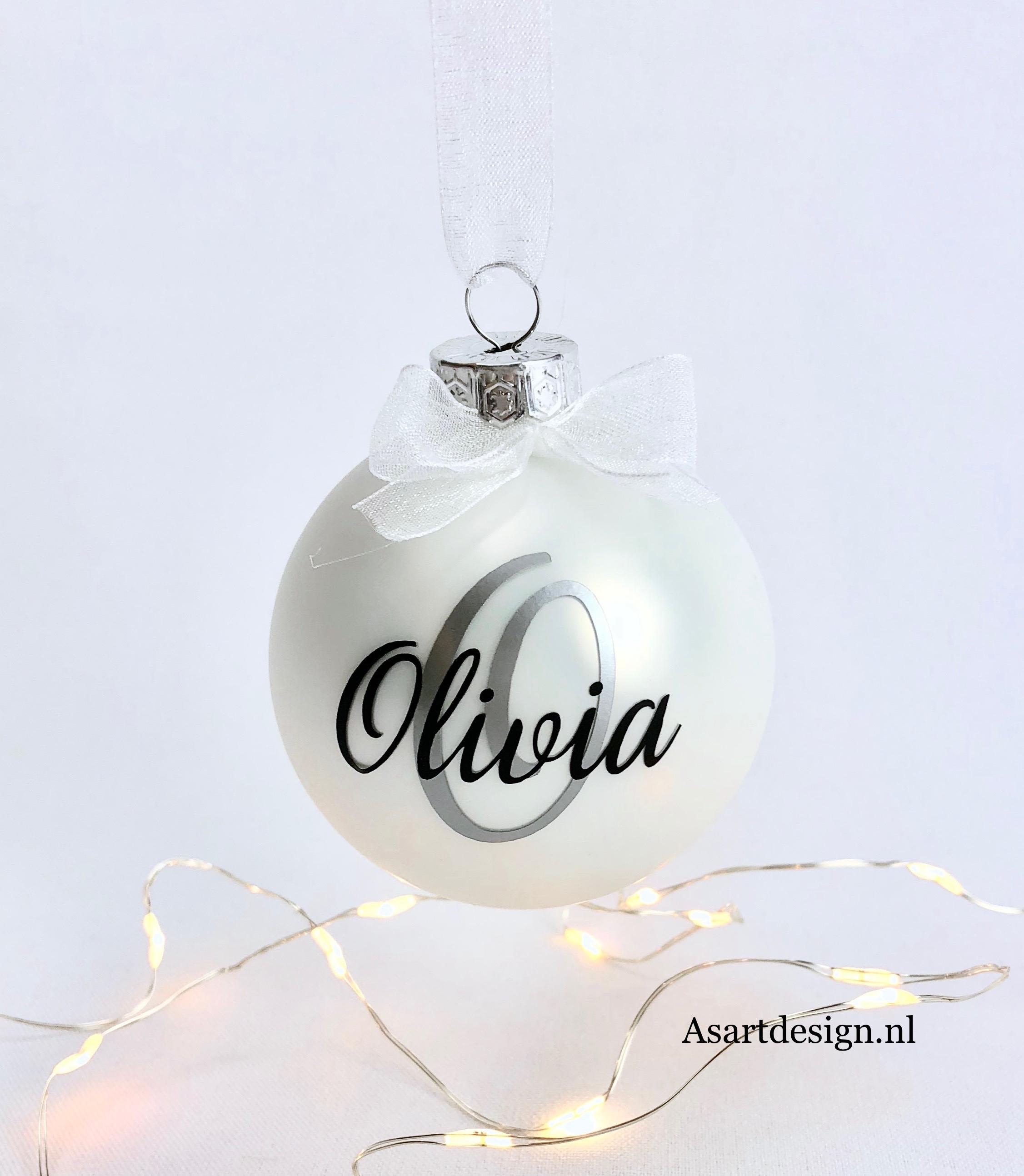 Kersdecoratie | Kerstbal met naam