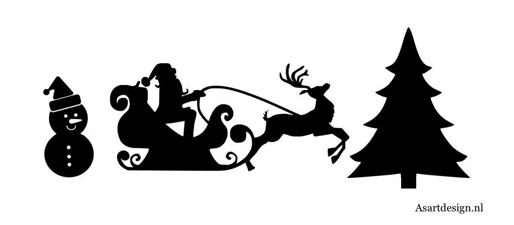 Kerst herbruikbare raamstickers