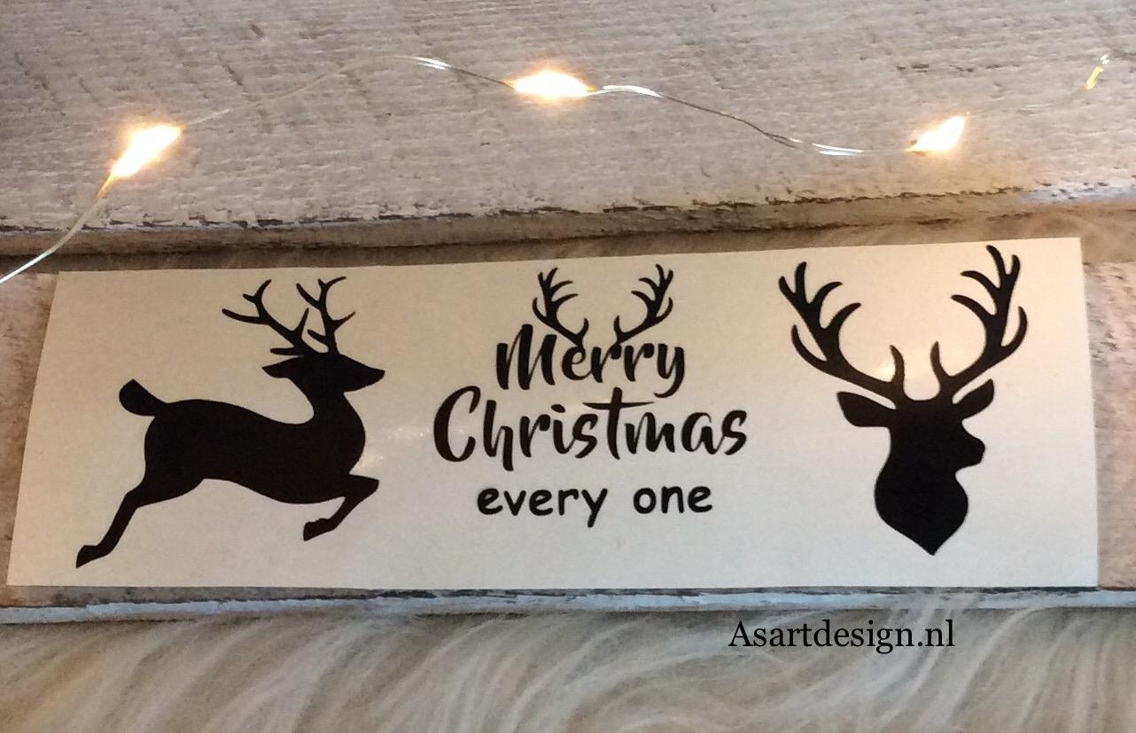 Kerst stickers (3 stuks)