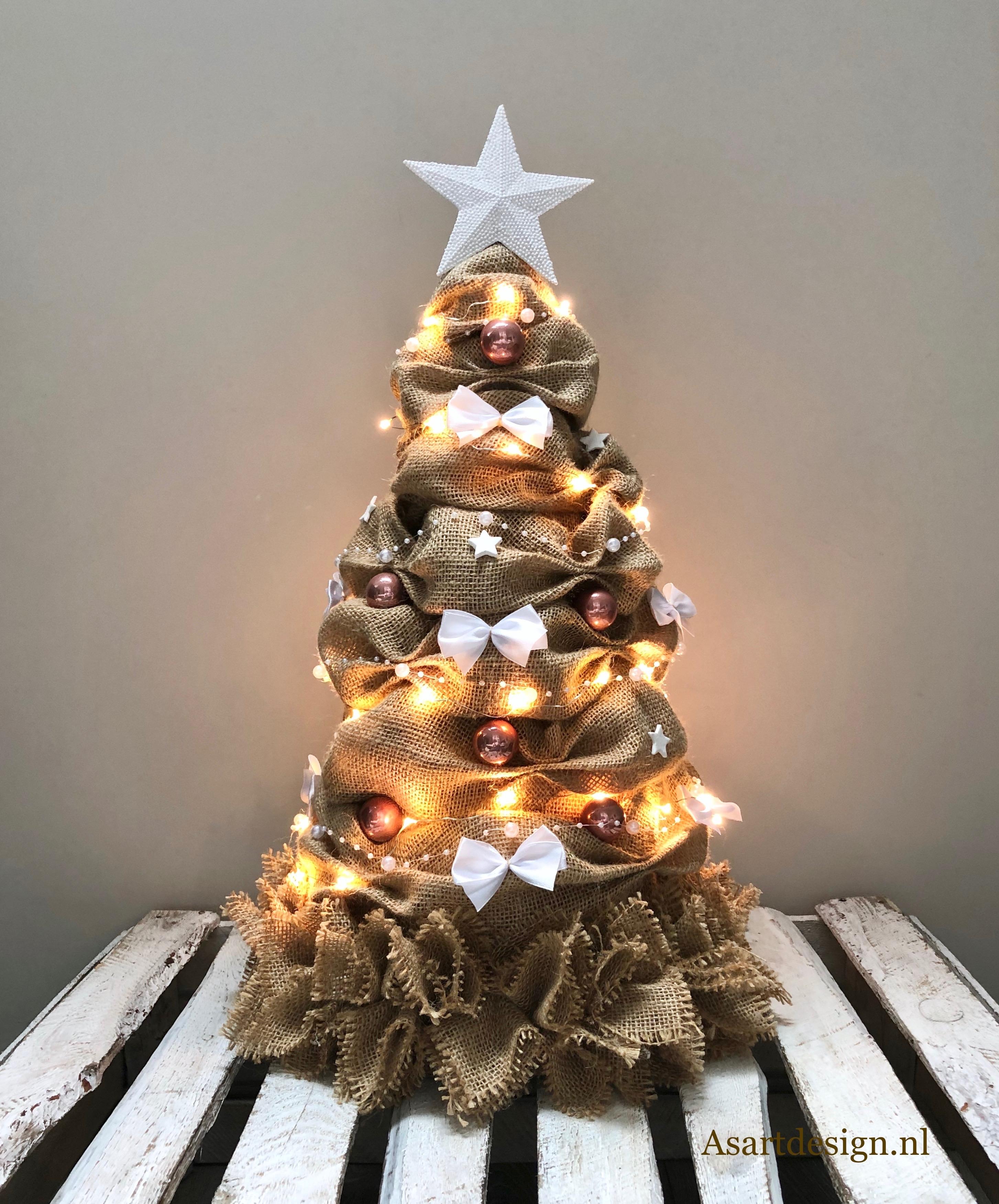 Kerstdecoratie | Jute kerstboom 55 cm