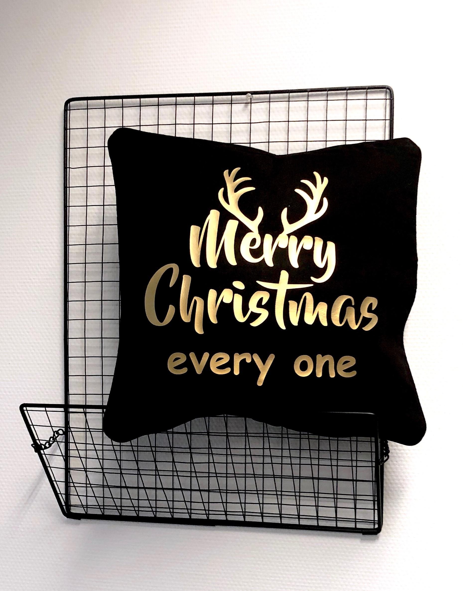 Kerstdecoratie | kussenslooo 'Merry Christmas'
