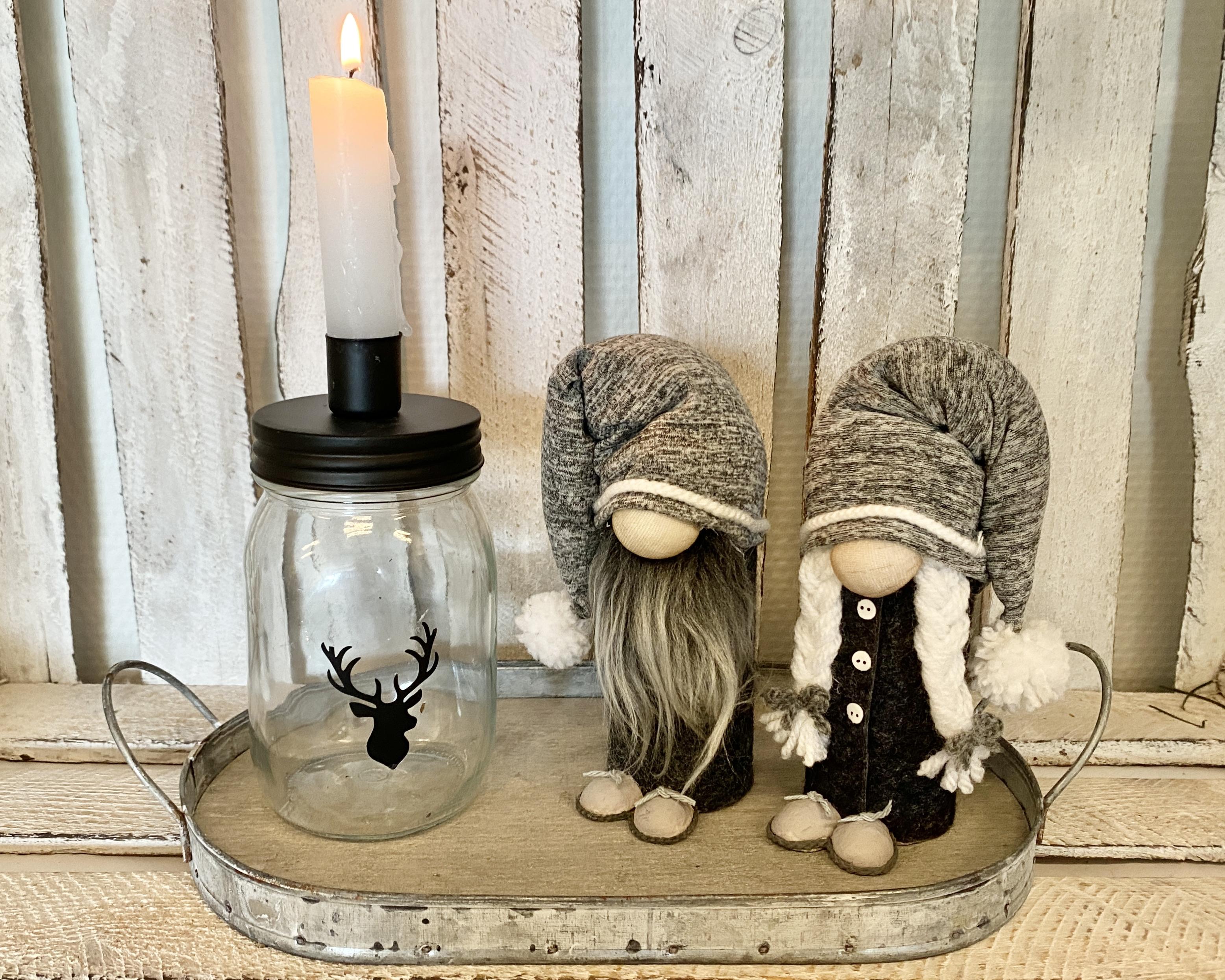 Kerstkabouters set van 2 | Grijs