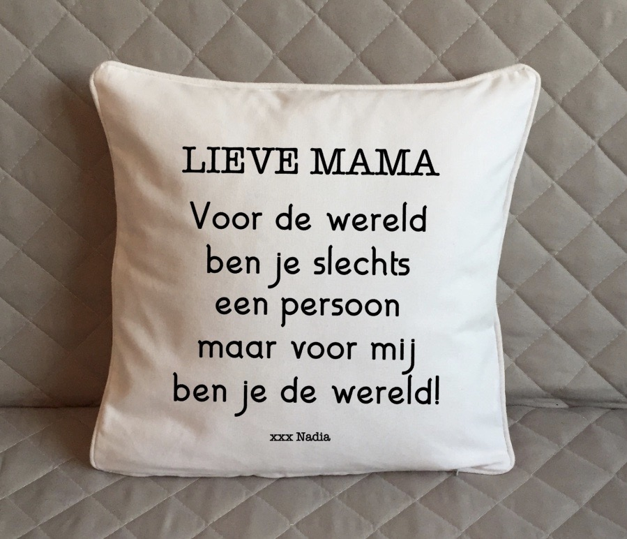 Kussen Lieve mama