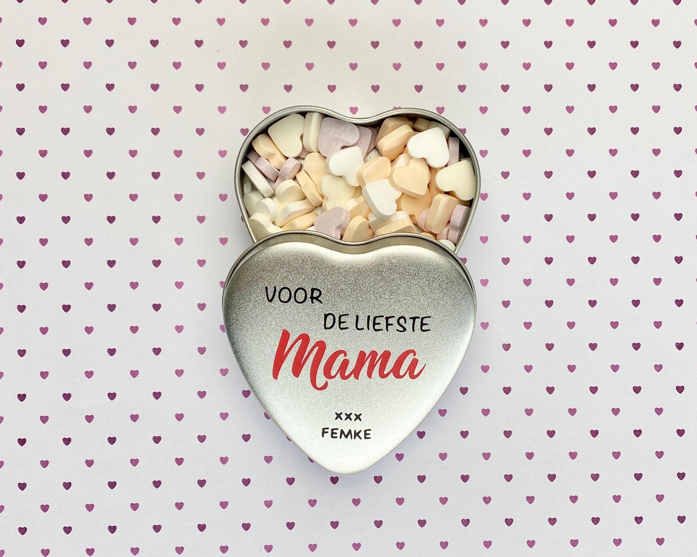 Moederdag Cadeau | Gepersonaliseerde snoepblikje Mama
