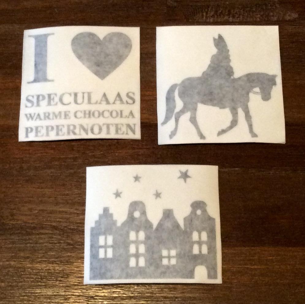 Sinterklaas stickers (3 stuks)