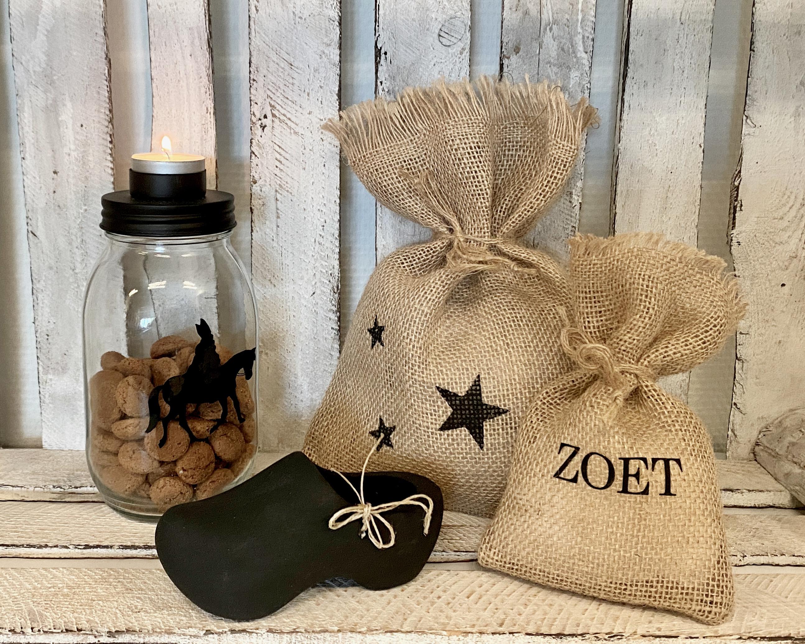 """Sinterklaas versiering set """"zoet""""4-delig"""