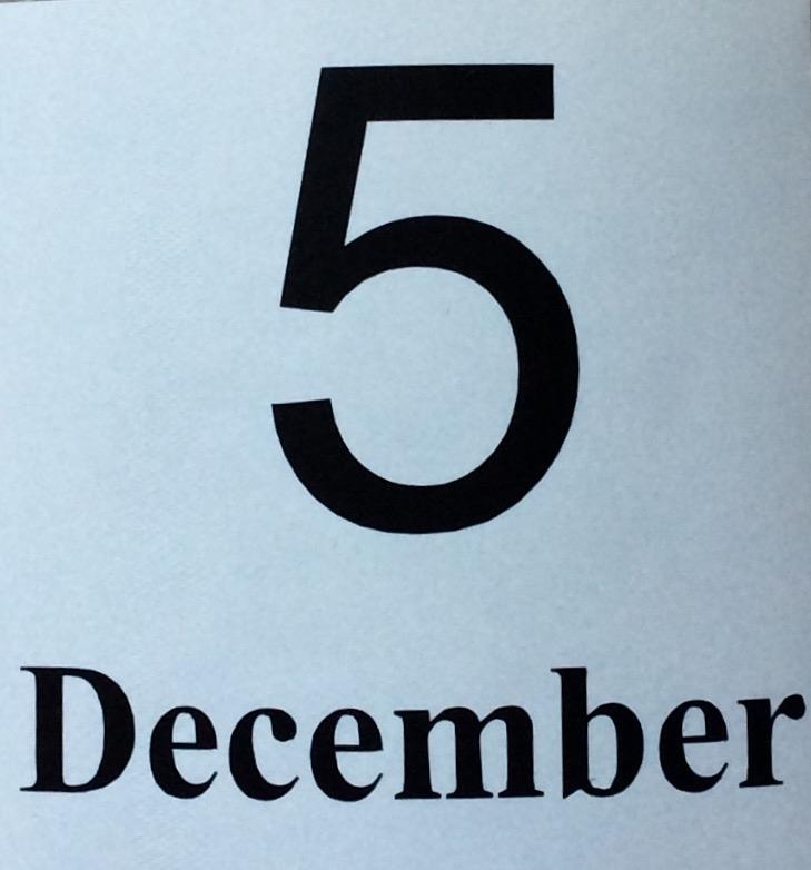 Sticker ' 5 December '