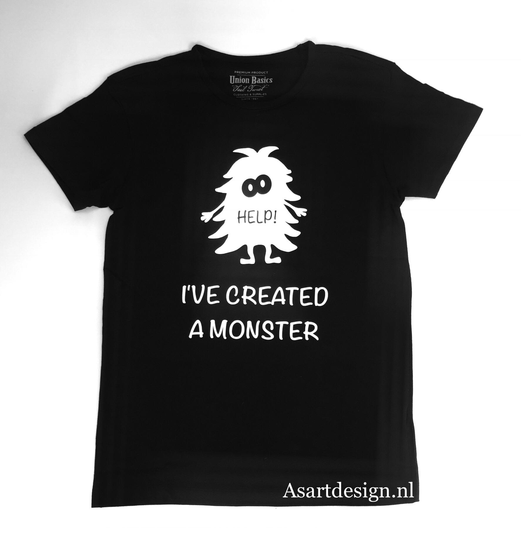 Vader en kind T-shirts 'Monster'