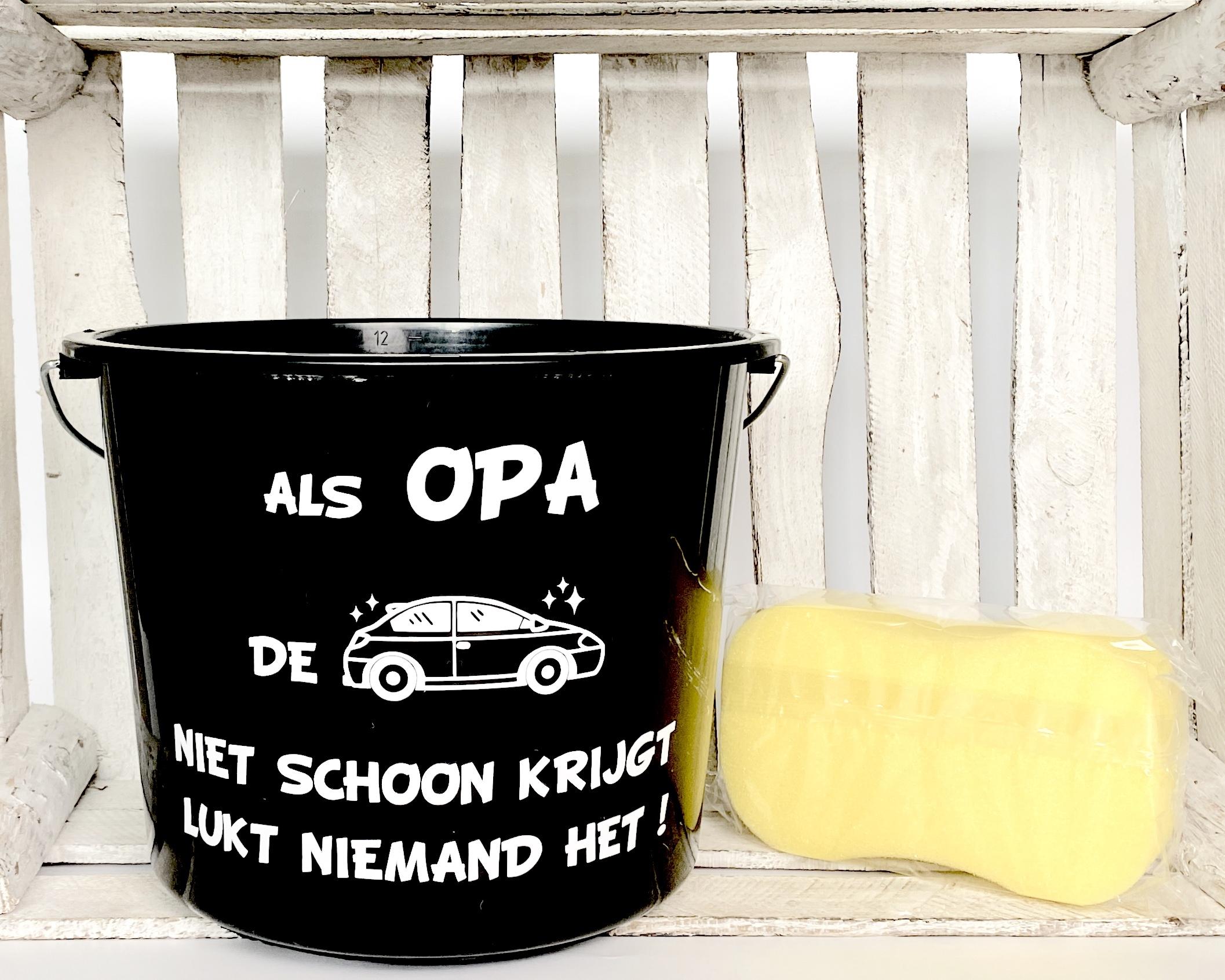 """Vaderdag cadeau """"Autowasset voor papa/opa"""""""