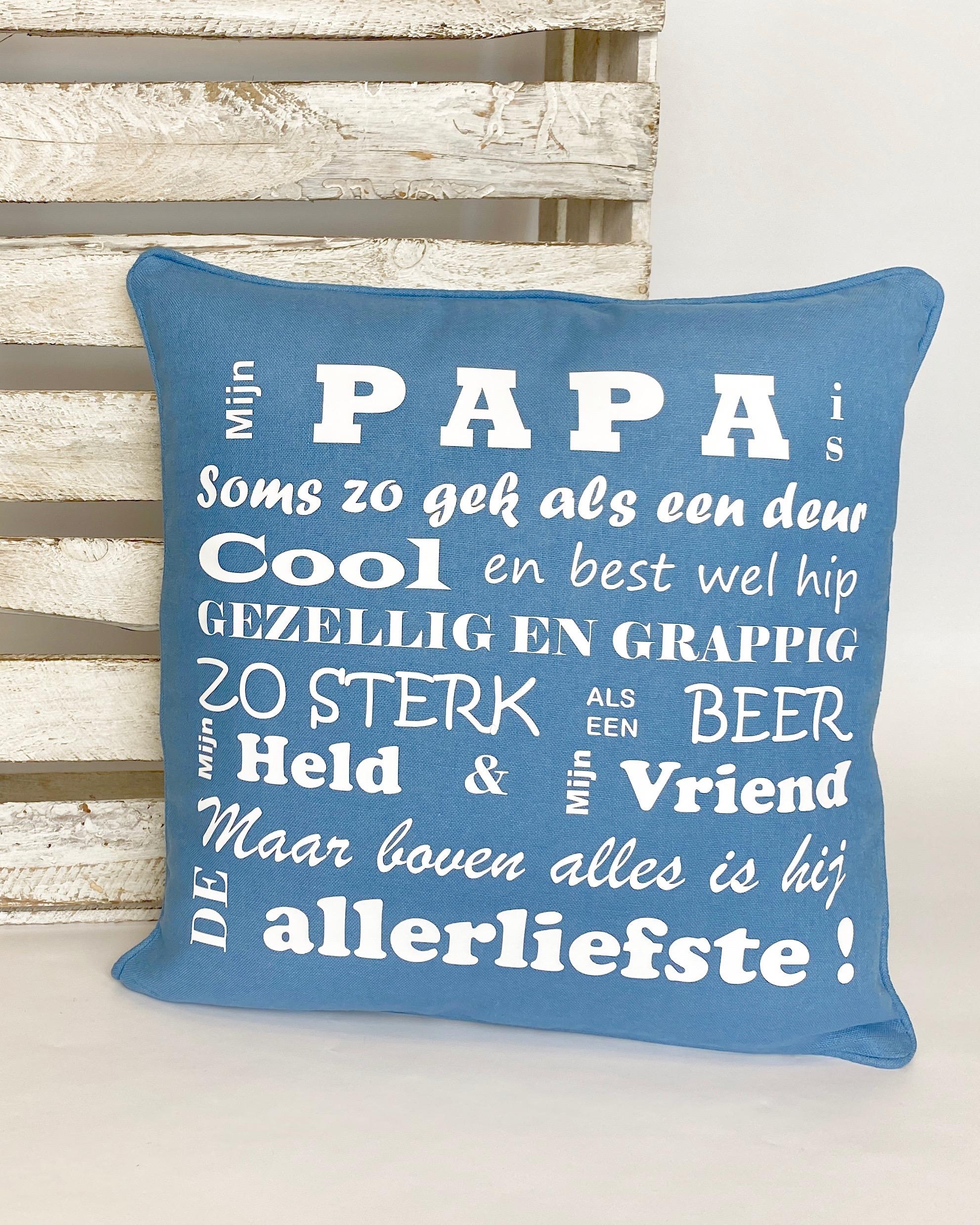 """Vaderdag kussenhoes """"Mijn papa/Onze papa"""""""