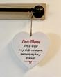 MDF hart met tekst | Moederdag cadeau