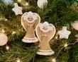 Kerstengeltjes set van 2 witte mutsjes