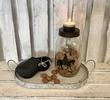 Sinterklaas decoratie | Theelichthouder glazen pot Sint L
