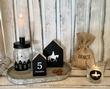 Sinterklaasdecoratie   Tekstborden/huisjes (3 stuks) zwart