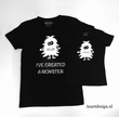 Vader en kind T-shirts 'monster'