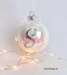Kerstdecoratie   Kerstbal met naam