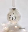 Transparante kerstbal met naam (kleur naam naar keuze)