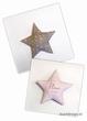 Kussen ster (grijs/roze) met naam